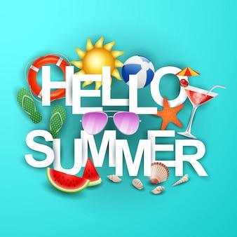 Banner hello summer