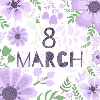 Banner of the international women's day