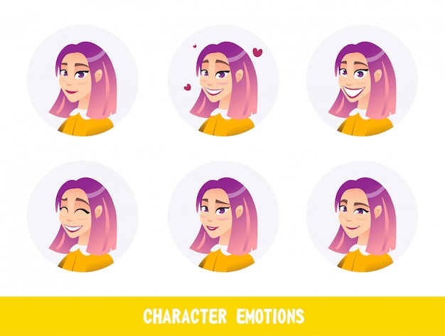 Banner is written character emotions cartoon