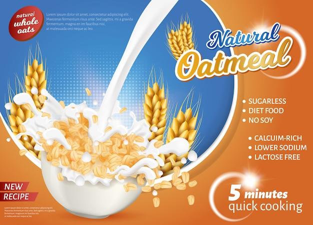Banner is written natural qatmeal new recipe.