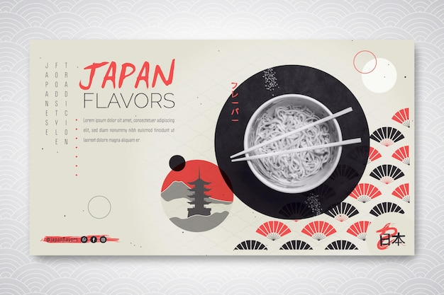 Banner for japanese food restaurant