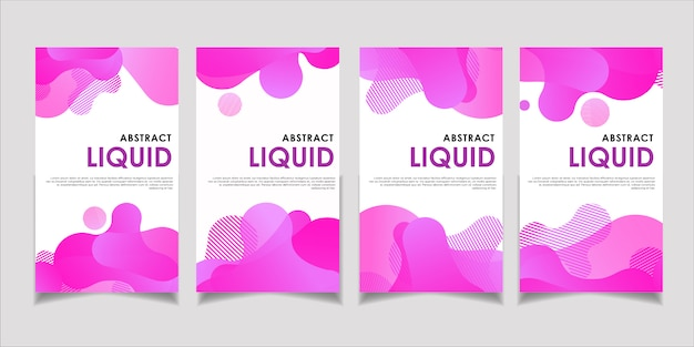 Banner liquid abstract violet collection template