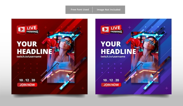 Banner live streaming template.