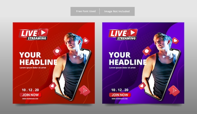 Banner live streaming template