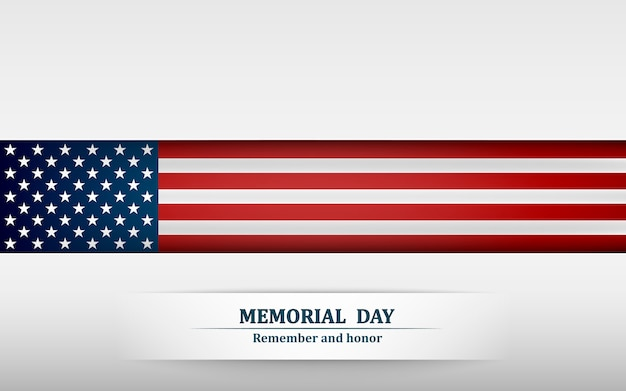Banner for memorial day.