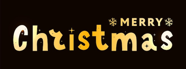 Banner merry christmas holiday new year letter font vector illustration