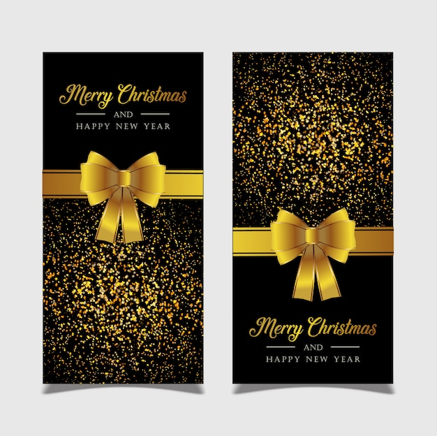 황금 배경 배너 메리 크리스마스