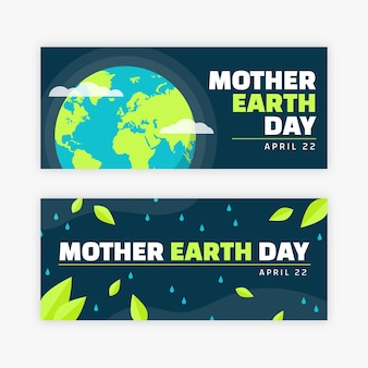 Banner mother earth day in flat design