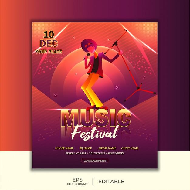 Banner for music festival