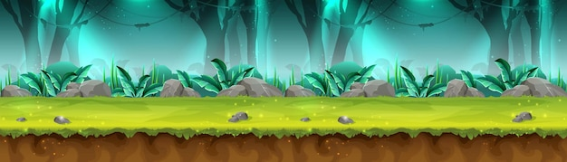 Banner of mystery rain forest for game