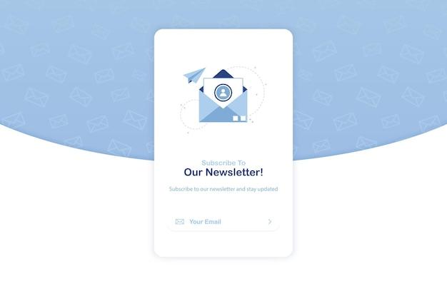 Баннер email-маркетинга для подписки на рассылку новостей