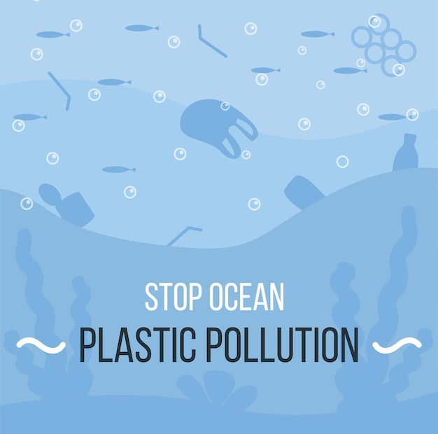 海のコビッド廃棄物ごみのバナーコビッドパンデミック後の医療ゴミプラスチック汚染