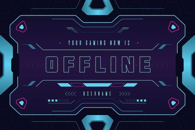 Banner for offline twitch platform in gammer style