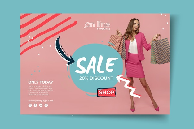 Banner online shopping template