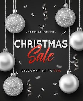 크리스마스 판매 배너 또는 포스터.