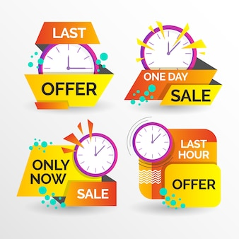 Banner pack with sales countdown