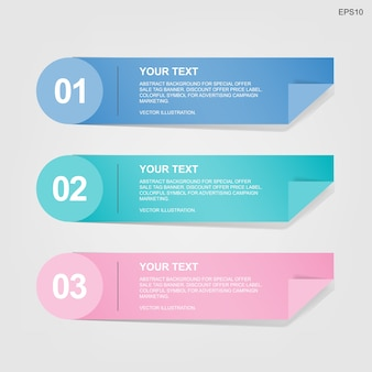 Banner paper tag for business template background