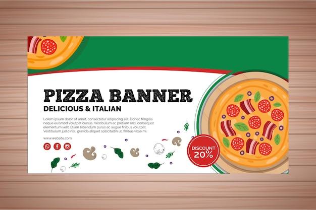 Banner for pizza restaurant