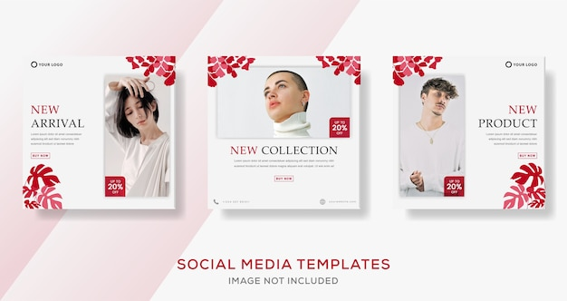 Banner post template with pink color for nature fashion sale