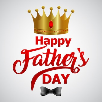 Banner or poster for happy father's day