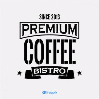 Banner premium coffee bistro