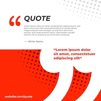 Banner red and white for quote