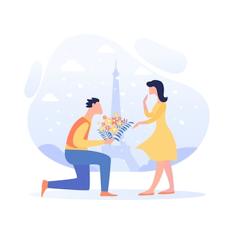 Banner relationship leading to wedding cartoon.