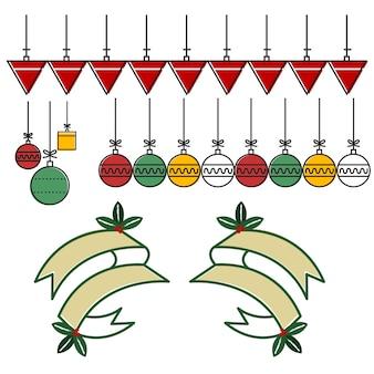 Banner ribbon decoration christmas season