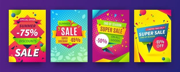 배너 판매. 프로모션, 할인 템플릿 특별 제공.