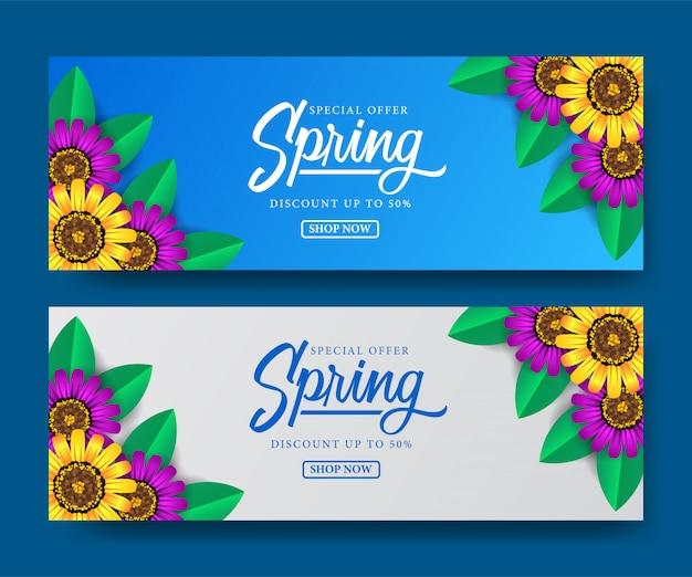 Banner of sale spring season