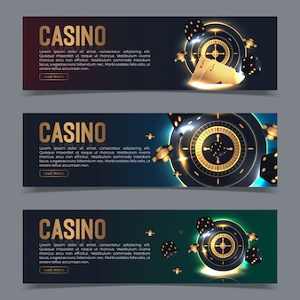 Banner set on a casino theme.