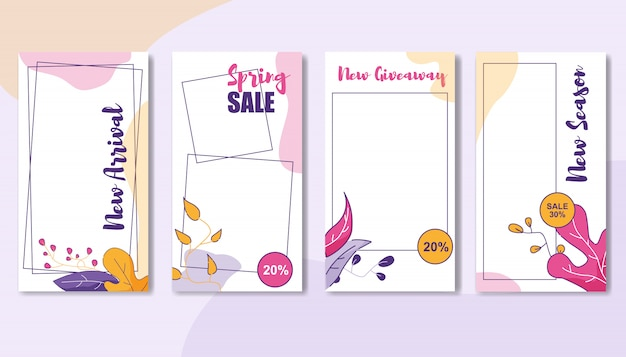Banner set of special trade. coupons and vouchers