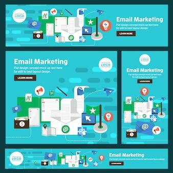 Banner set vector digital business