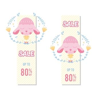 Banner sheep cute sale
