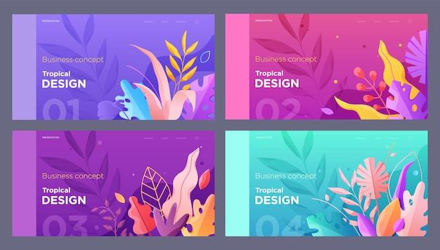 Баннер сайт плакат цветочный шаблон целевая страница с местом для вашего текста оставляет фон