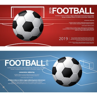 Banner soccer football set