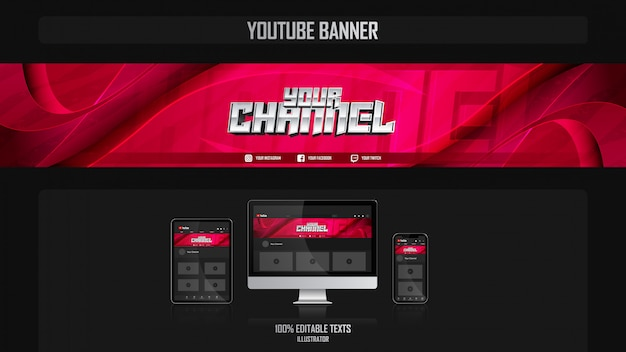 Banner for social media channel with dance concept