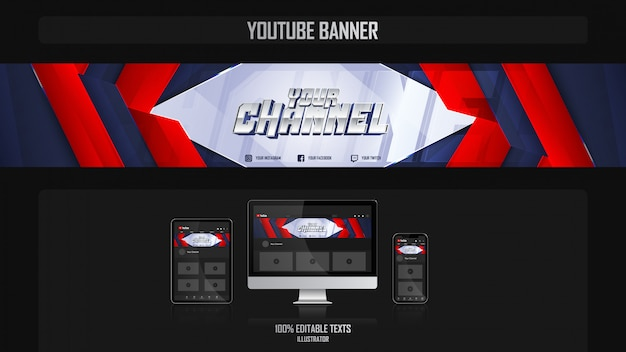 Banner for social media channel with harmonious concep