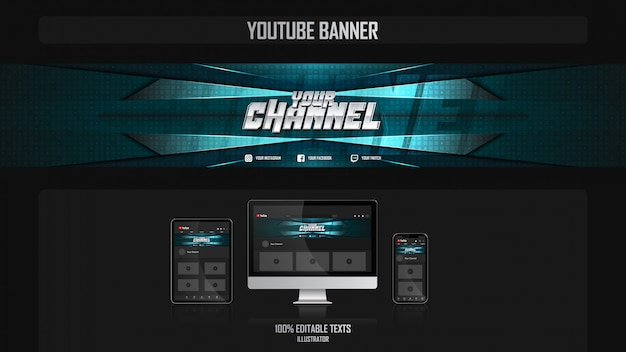 Banner for social media channel with music concept