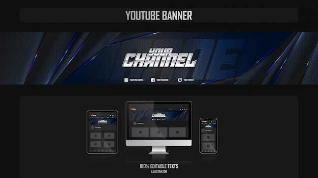 Banner for social media channel with night concept