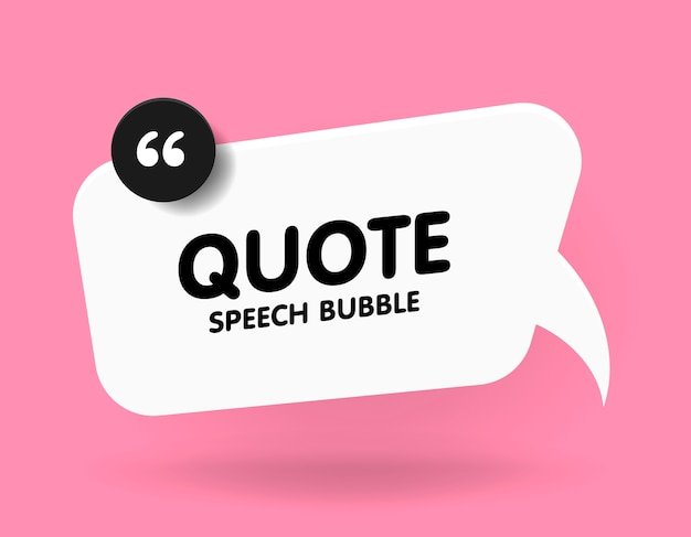 Banner, speech bubble, poster and sticker concept with sample text. white bubble message on bright pink
