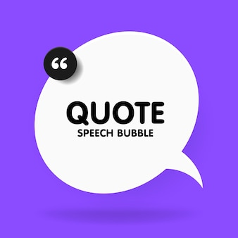 Banner, speech bubble, poster and sticker concept with sample text. white bubble message on bright violet background for banner, poster.  illustration