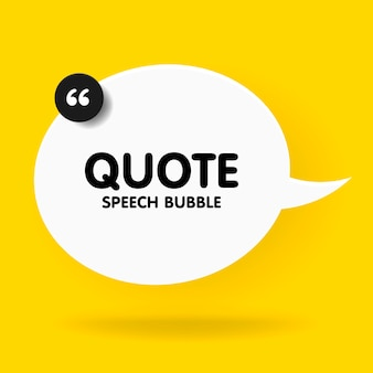 Banner, speech bubble, poster and sticker concept with sample text. white bubble message on bright yellow