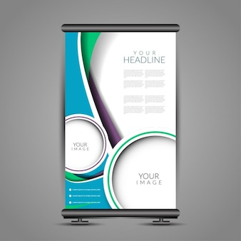 Banner stand in abstract style