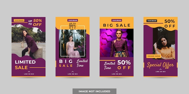 Banner or stories template set