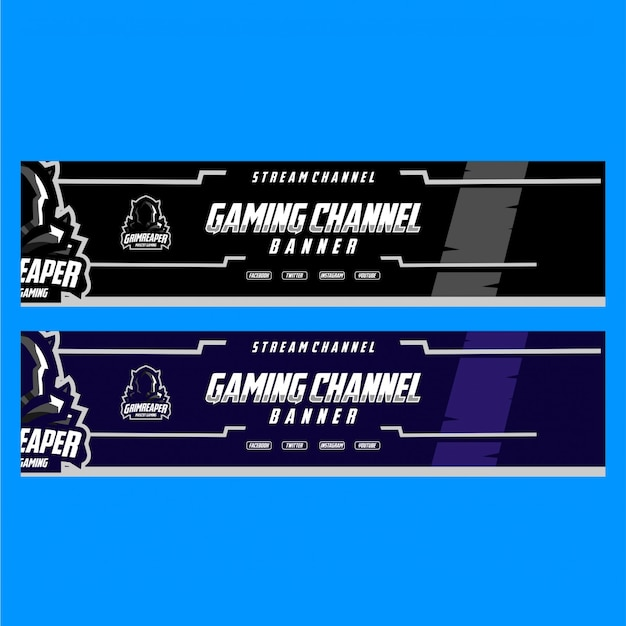 Premium Vector Banner For Stream Gaming Channel With Dark Style