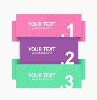 Banner strip option number for web. vector illustration
