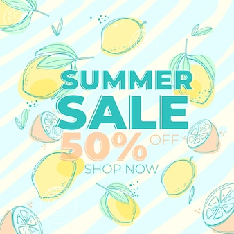 Banner for summer sale with discount