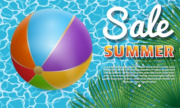 Banner summer sale.