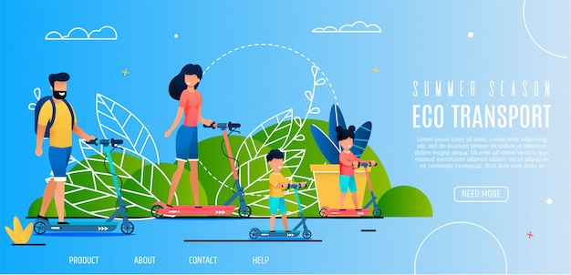Banner summer season eco transport